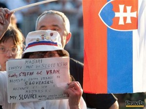My hejslováci sa nebojíme postaviť tvárou... Foto: Pravda / Robert Hüttner