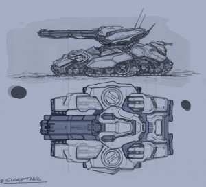 Vývojová skica tanku ľudskej rasy